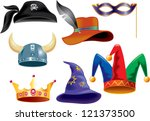 different funny hats for party  ... | Shutterstock .eps vector #121373500