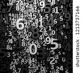 abstract 3d numbers background. ... | Shutterstock . vector #1213737166