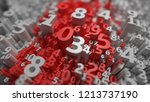 abstract 3d numbers background. ... | Shutterstock . vector #1213737190