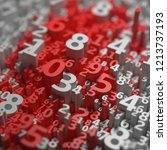 abstract 3d numbers background. ... | Shutterstock . vector #1213737193