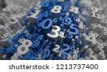 abstract 3d numbers background. ... | Shutterstock . vector #1213737400