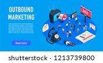 outbound marketing isometric.... | Shutterstock .eps vector #1213739800