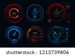 futuristic car speedometer....