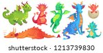 fairy dragons. funny fairytale... | Shutterstock .eps vector #1213739830