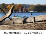 golden autumn in lithuania  ... | Shutterstock . vector #1213740676