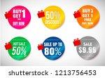 sticker sale banner design | Shutterstock .eps vector #1213756453
