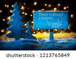 blue christmas tree  quote... | Shutterstock . vector #1213765849