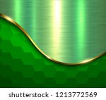 green metallic background ... | Shutterstock .eps vector #1213772569