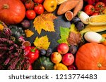 healthy food background with... | Shutterstock . vector #1213774483