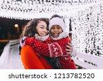 little black girl enjoying in...   Shutterstock . vector #1213782520