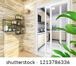 spacious and bright balcony ... | Shutterstock . vector #1213786336