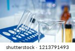 experiment glass in laboratory | Shutterstock . vector #1213791493