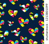 hearts seamless vector pattern... | Shutterstock .eps vector #1213801099