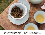 gong fu tea brewing | Shutterstock . vector #1213805080
