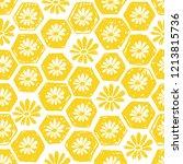 seamless pattern of honeycomb... | Shutterstock .eps vector #1213815736