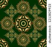 luxury gold seamless pattern... | Shutterstock .eps vector #1213829923