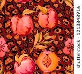 watercolor seamless pattern... | Shutterstock . vector #1213848916