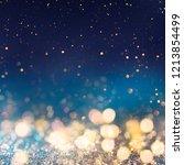 christmas light background. ... | Shutterstock . vector #1213854499