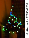 blurred christmas tree with...   Shutterstock . vector #1213862980