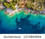 aerial  view of  agios nikolaos ...   Shutterstock . vector #1213864846