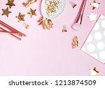 golden decor and feminine... | Shutterstock . vector #1213874509