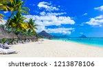 best tropical beaches. flic en... | Shutterstock . vector #1213878106
