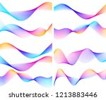 wave of the many colored lines. ... | Shutterstock .eps vector #1213883446
