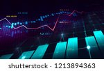 stock market or forex trading... | Shutterstock . vector #1213894363