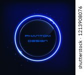 abstract neon vector circle  ... | Shutterstock .eps vector #1213908076