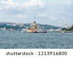 maiden's tower or kiz kulesi... | Shutterstock . vector #1213916800