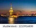 maiden's tower or kiz kulesi... | Shutterstock . vector #1213916830