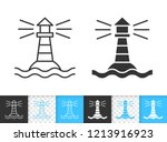 lighthouse black linear and... | Shutterstock .eps vector #1213916923
