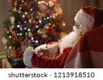 merry christmas. santa claus at ... | Shutterstock . vector #1213918510