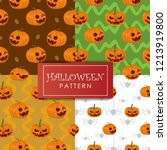 halloween pattern vector set... | Shutterstock .eps vector #1213919800