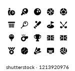 simple set of sport related... | Shutterstock .eps vector #1213920976