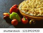 preparation in close up baker... | Shutterstock . vector #1213922920