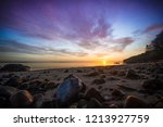 wide angle view of colourful... | Shutterstock . vector #1213927759