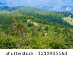 the descent into the valley... | Shutterstock . vector #1213935163