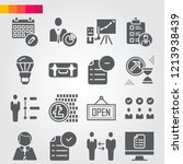 simple set of 16 icons related... | Shutterstock .eps vector #1213938439