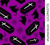 halloween seamless pattern... | Shutterstock .eps vector #1213943773