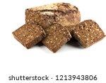 rye black bread slices isolated ... | Shutterstock . vector #1213943806