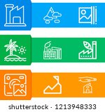 simple set of  9 outline icons... | Shutterstock .eps vector #1213948333