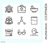 simple set of 9 icons related... | Shutterstock .eps vector #1213956826