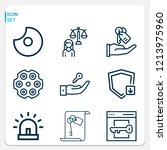 simple set of  9 outline icons... | Shutterstock .eps vector #1213975960