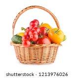 fresh ripe vegetables in a... | Shutterstock . vector #1213976026