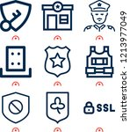simple set of  9 outline icons... | Shutterstock .eps vector #1213977049