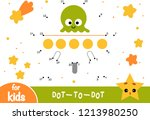 numbers game  education dot to... | Shutterstock .eps vector #1213980250