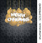 2019 merry christmas seasonal... | Shutterstock . vector #1213983640