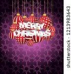 2019 merry christmas seasonal... | Shutterstock . vector #1213983643