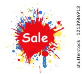 sale text in the center on... | Shutterstock . vector #1213986913